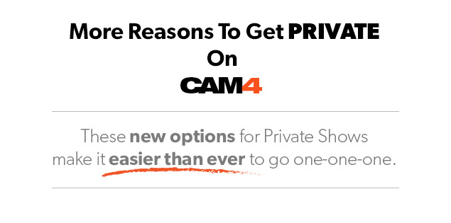 NEW Private Show Prices on CAM4