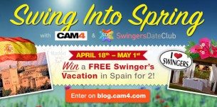 Swing Into Spring with CAM4 & Swingers Date Club