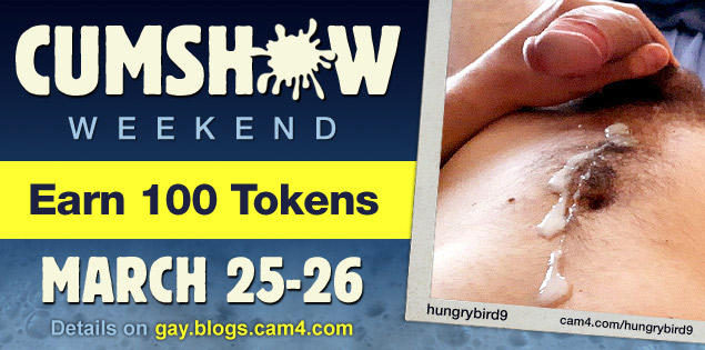 Earn 100 Tokens by joining the CUMSHOW Weekend (March 25th & 26th)