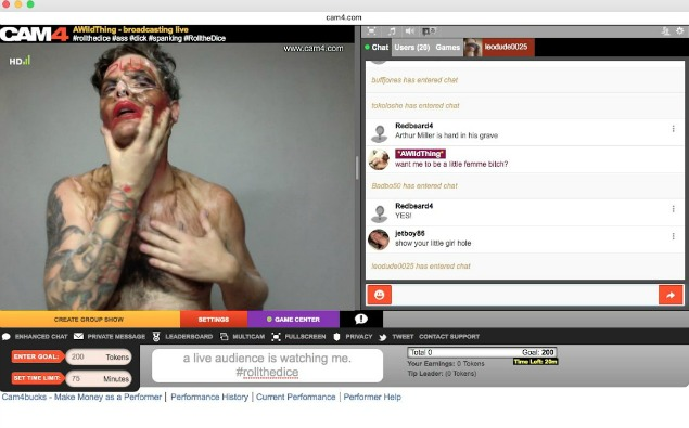 Queer Artist John Moletress Performs 20 hr Art Protest on CAM4