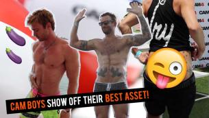 Hot Cam Boys Show Off at XBIZ!