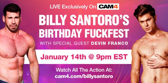 Billy Santoro's Birthday Fuckfest ft. Devin Franco!