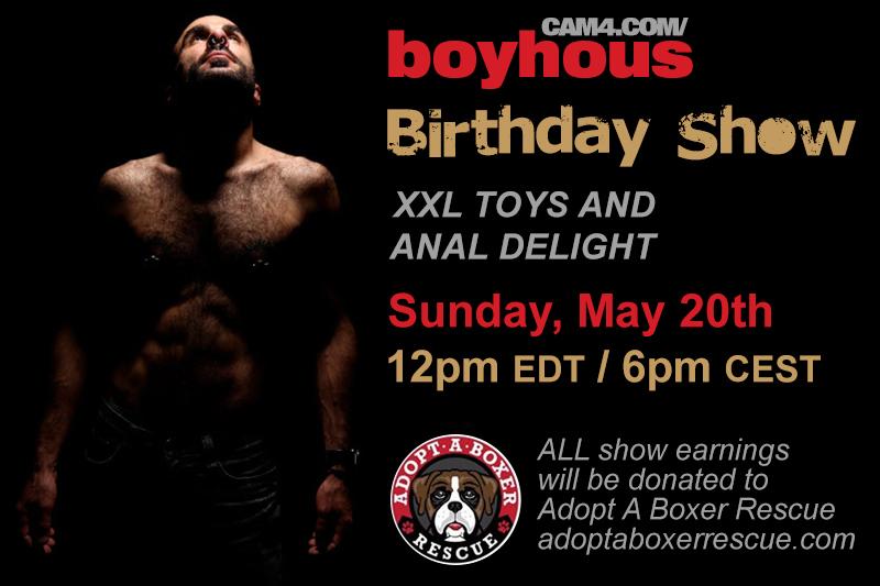 Join Boyhous on his CAM4 Birthday Show!