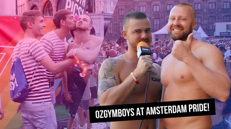 Oz_Gym_Boys go to Amsterdam Pride!