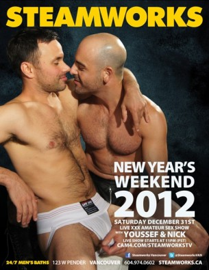New Years Eve Cam4 Sex Shows at Steamworks Baths