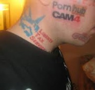 Man Tattoos Cam4 On His Face