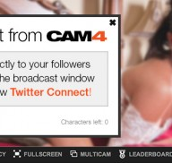 How to Use CAM4's Twitter Connect