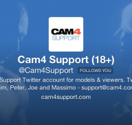 Got Questions? Follow @cam4support on Twitter!