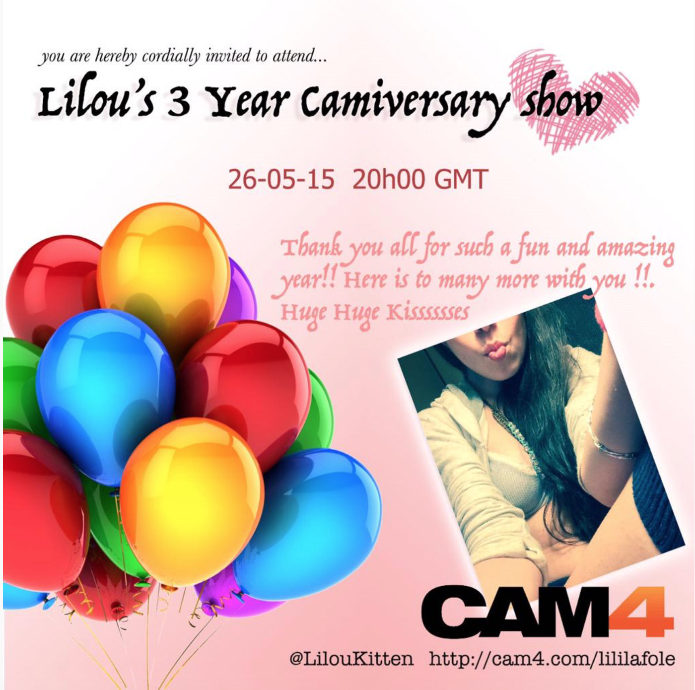 Lililafole: Three Sexy Years of Sexy Camshows on CAM4!