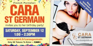 Cara St Germain CAM4 Birthday Party