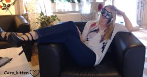 Blonde Camgirl Caro Kitten gets Interviewed