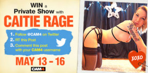 Retweet to Win a Private Show with Caitie Rage