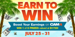 Earn to Win on CAM4: North American Summer Bonus!