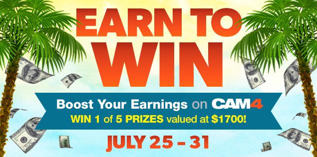 Earn to Win on CAM4: North American Summer Bonus!