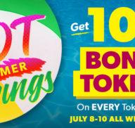 10% Bonus Tokens All Weekend Long!