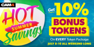 10% Bonus Tokens All Weekend Long!