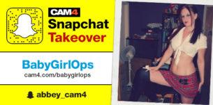 BabyGirlOps CAM4 Snapchat Takeover