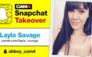 Layla Savage's CAM4VR Snapchat Takeover: Sept 14th