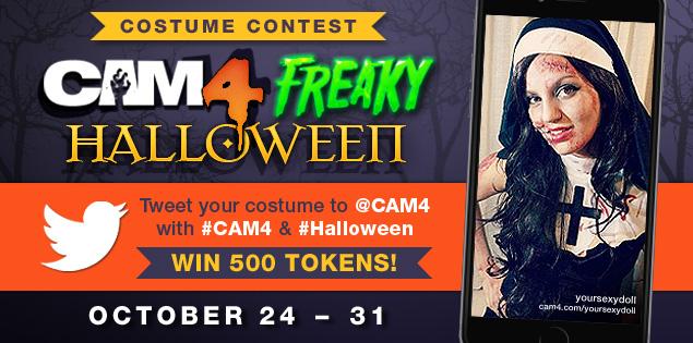 Freaky Halloween Costume Contest on CAM4
