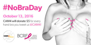 #NoBraDay Update: CAM4 Raises $585 for BCRF