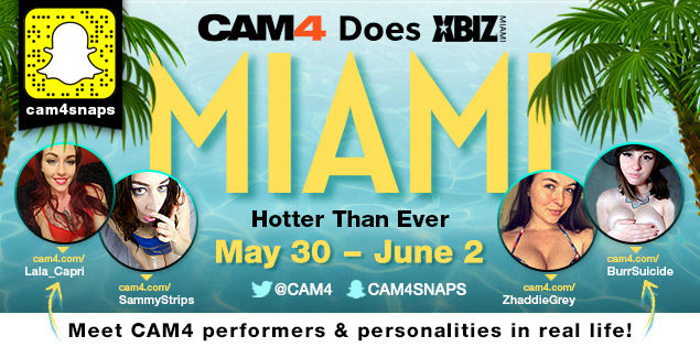 CAM4 is at the XBIZ Awards in Miami!