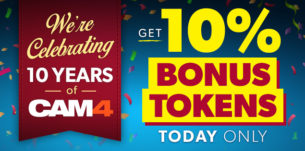 CAM4 Celebrates 10 Years with Bonus Tokens!
