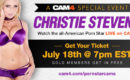 Christie Stevens Live on CAM4 July 18th!