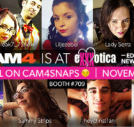 Visit CAM4 at EXXXOTICA, We're in Booth 709!
