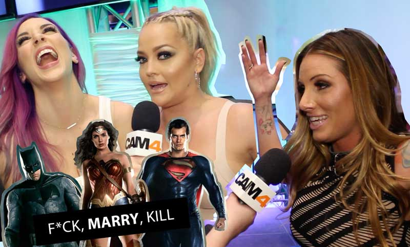 Pornstars Play F*ck, Marry, Kill: Justice League!
