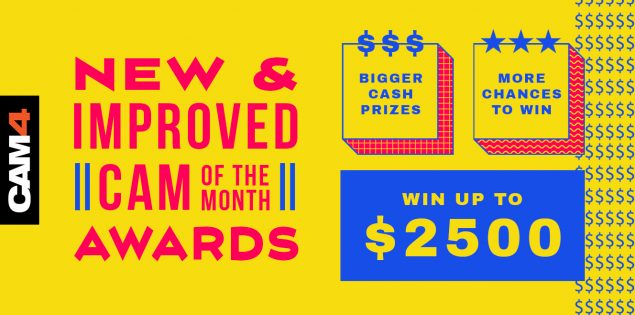 CAM4 Launches New and Improved Cam of the Month Awards